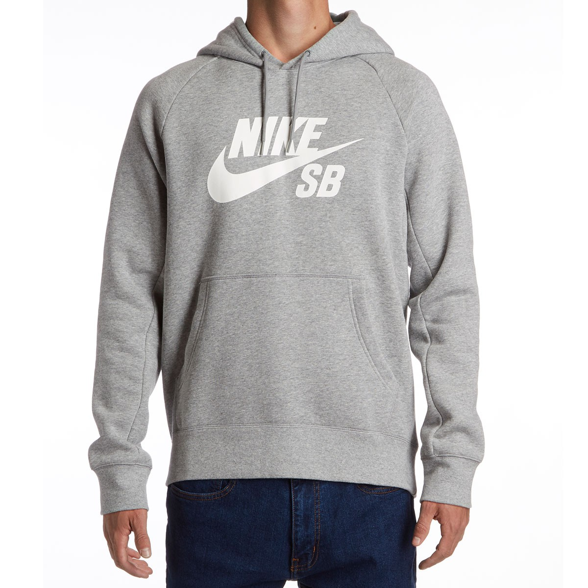 grey and white nike hoodie