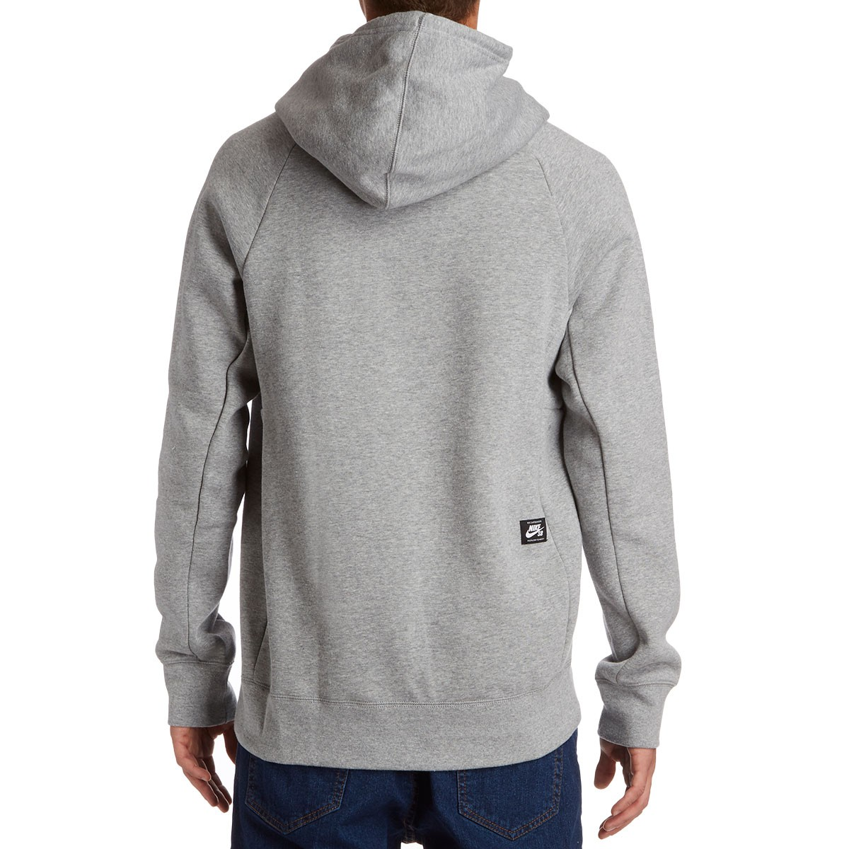 SB Icon Hoodie - Dark Grey Heather/White