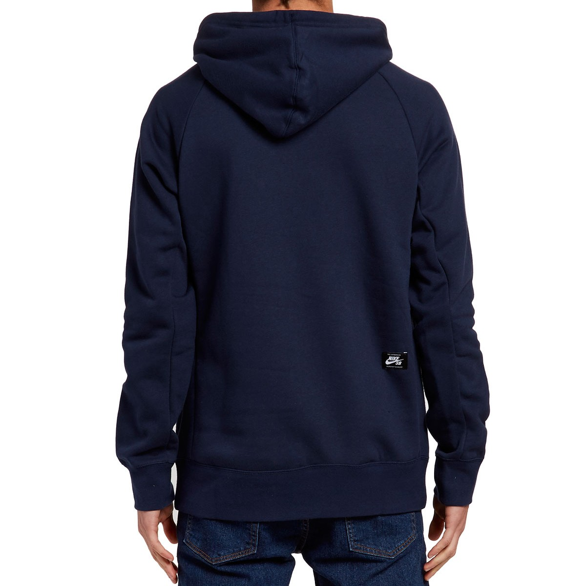 nike sb icon pullover hoodie obsidian white. Black Bedroom Furniture Sets. Home Design Ideas