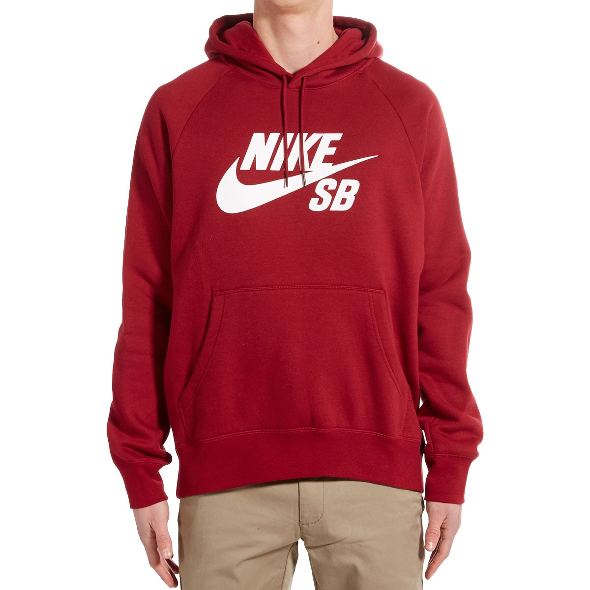 cc1717aa9cd8 Nike SB Icon Pullover Hoodie - Red White