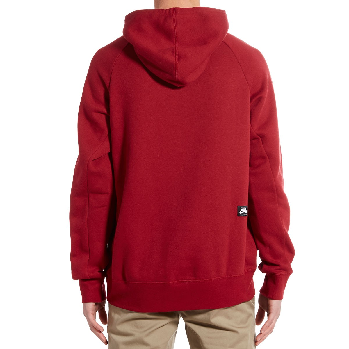 nike sb icon pullover hoodie red white. Black Bedroom Furniture Sets. Home Design Ideas