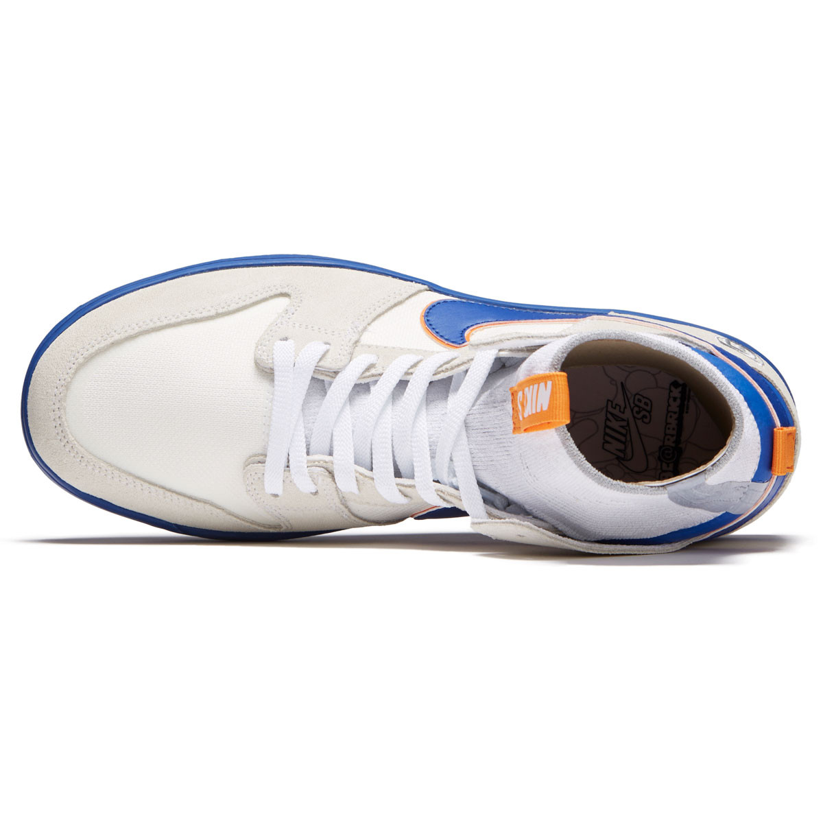 best sneakers 419bf 93395 Nike SB x Medicom Dunk High Elite QS Shoes - White College Blue Gold