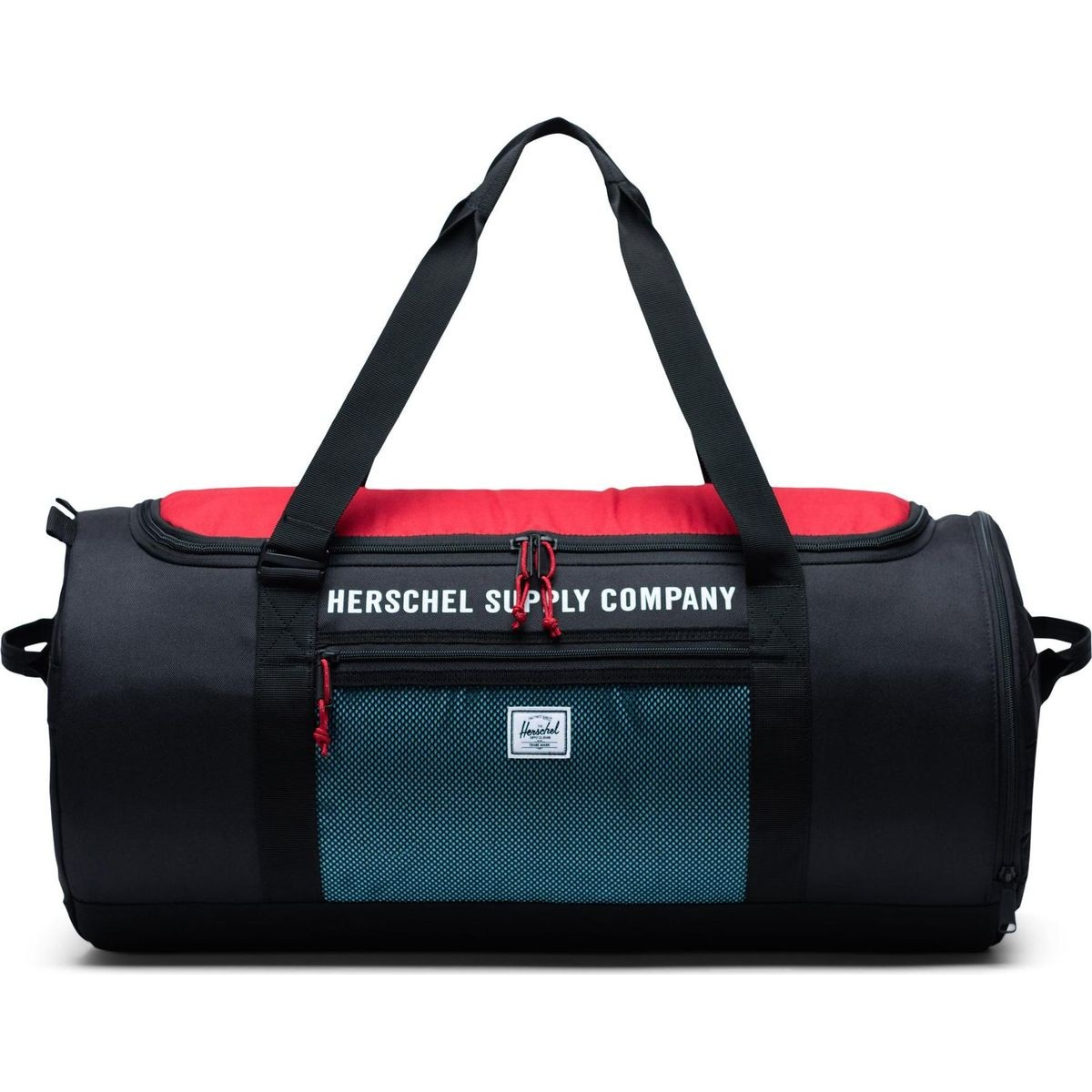 Herschel Supply Sutton Carry All 50l Duffle Bag Mesh Black Red On