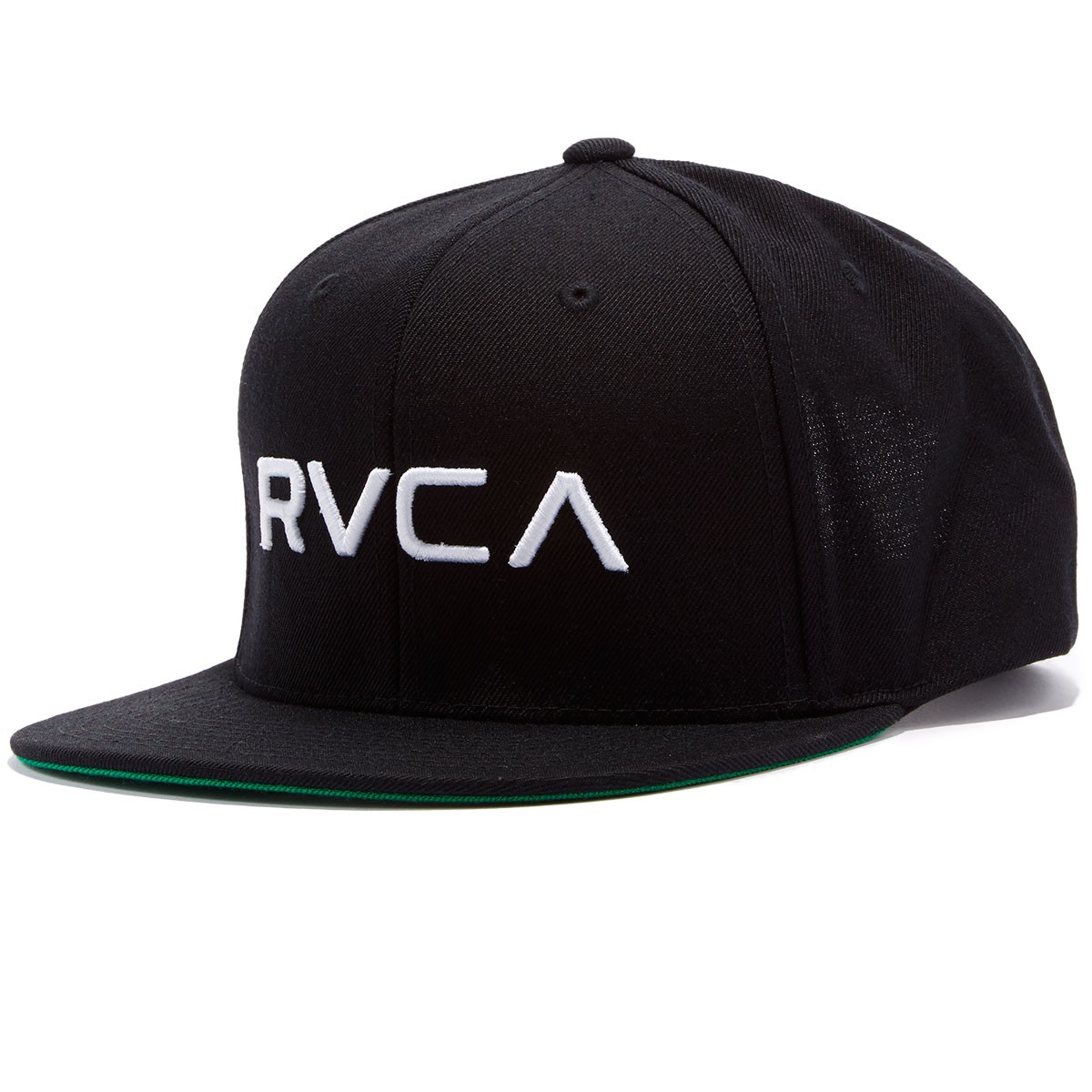 RVCA Twill Snapback Hat - Black/White