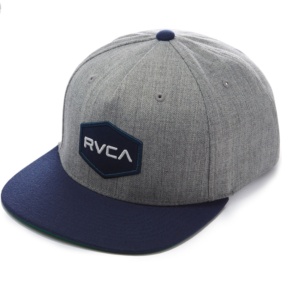 RVCA Commonwealth Snapback Hat - Grey Heather/Navy