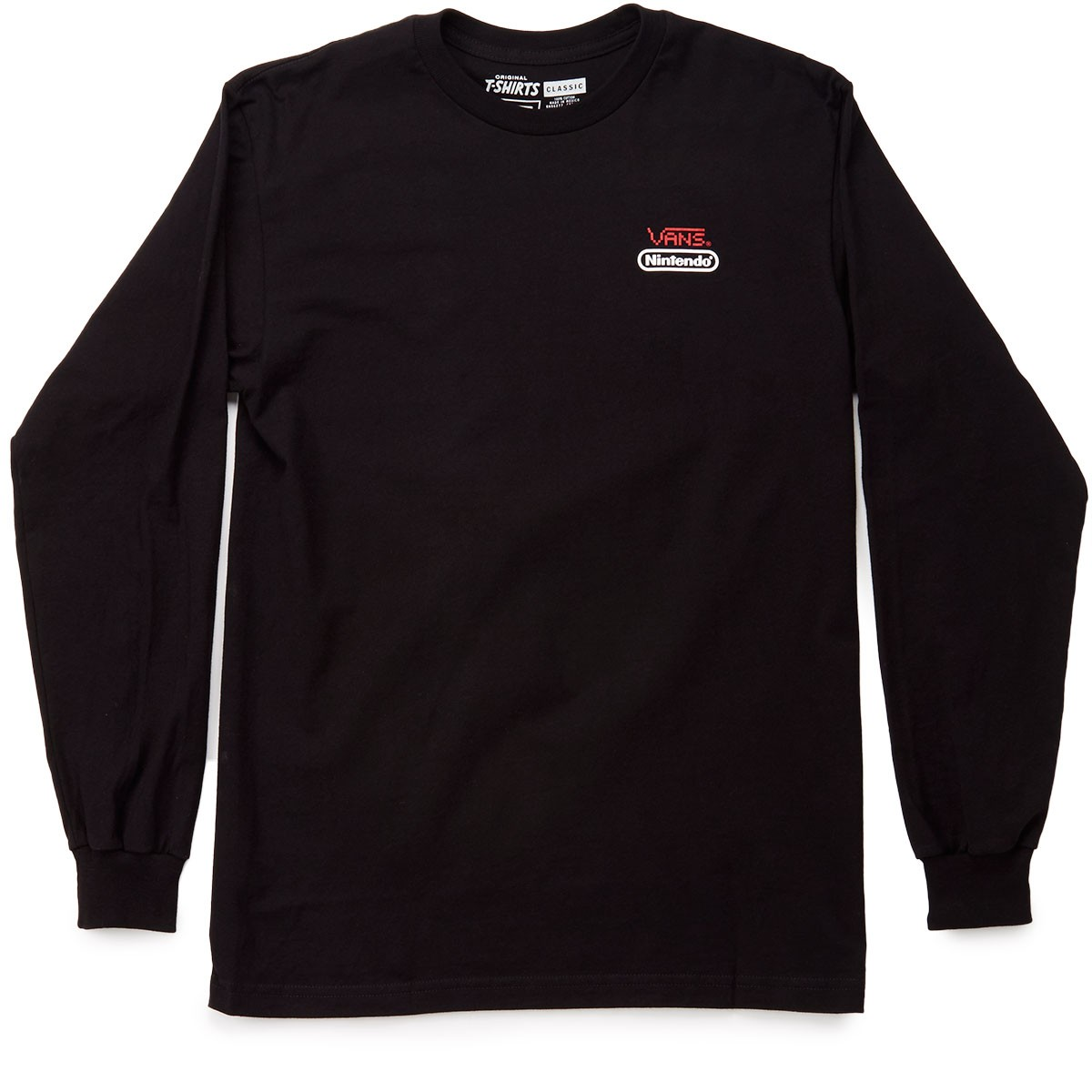 469dd552ee Vans X Nintendo Long Sleeve T-Shirt - Black