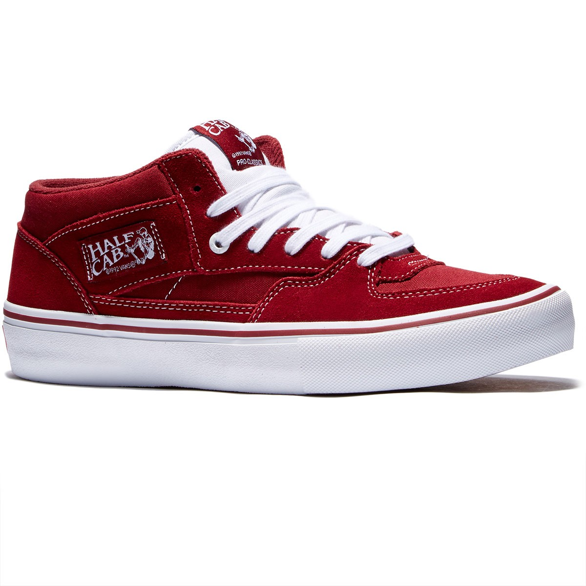 vans half cab pro color red