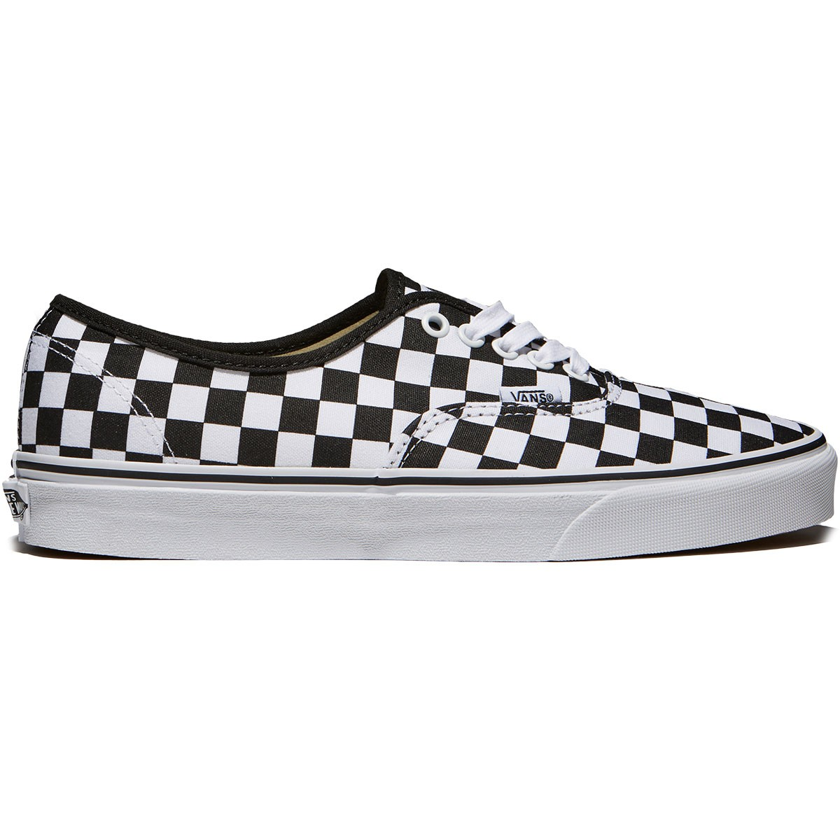 Vans Authentic Checkerboard Shoes - Black True White - 10.5 1997a1d9ff5