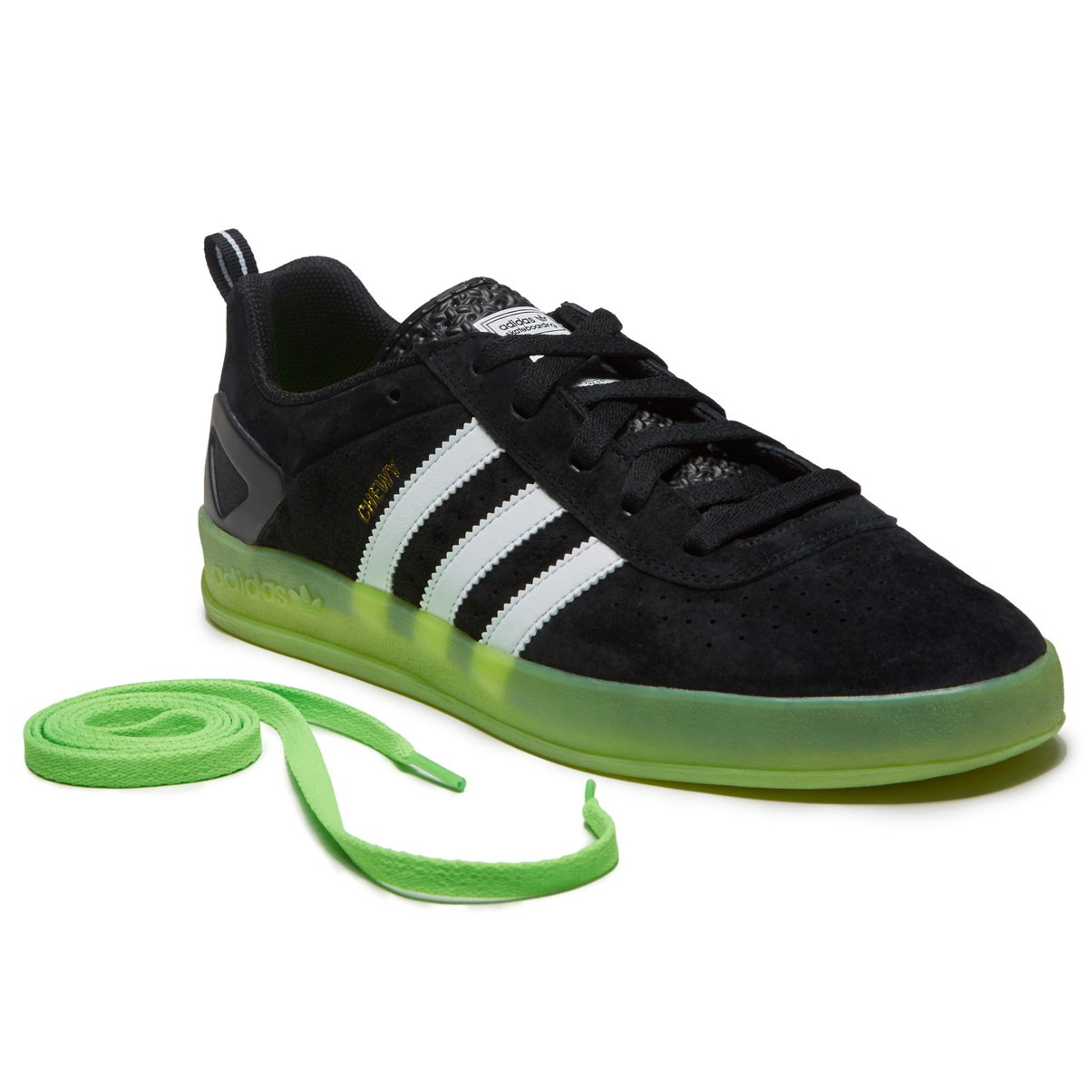 Adidas X Palace Pro Chewy Shoes - Black White Solar Green - 10.0 7b3dd8b5677a