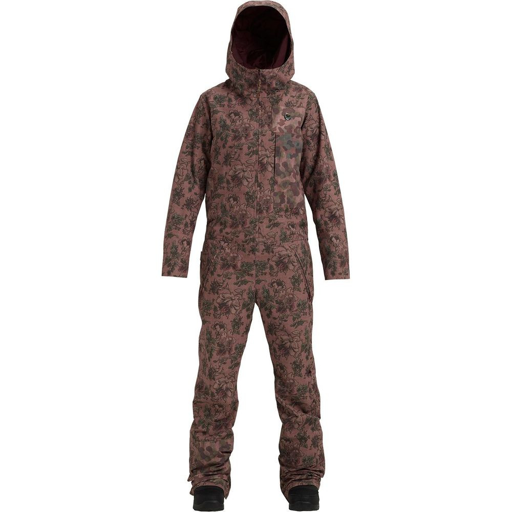 Womens Snow Suit One Piece >> Burton Womens Onepeace One Piece Snowboard Pants Floral Camo