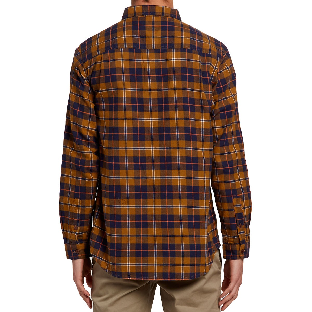 Imperial motion monterey flannel shirt tobacco navy for Best flannel shirt brands