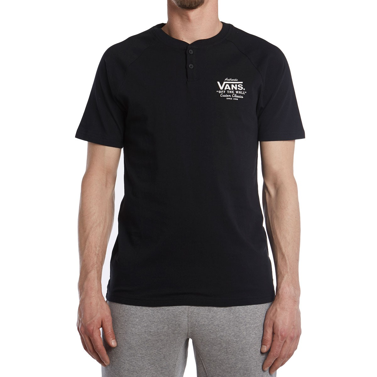 c5befc461b Vans Holder Street Henley T-Shirt - Black