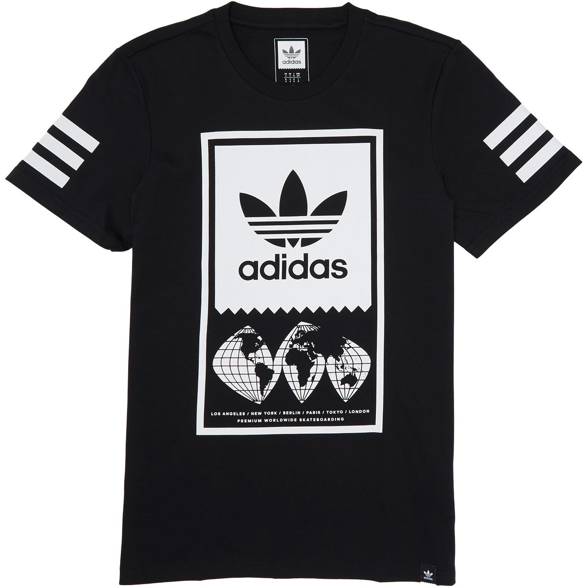 Adidas Global Blackwhite Shirt T Lockup XPRfX