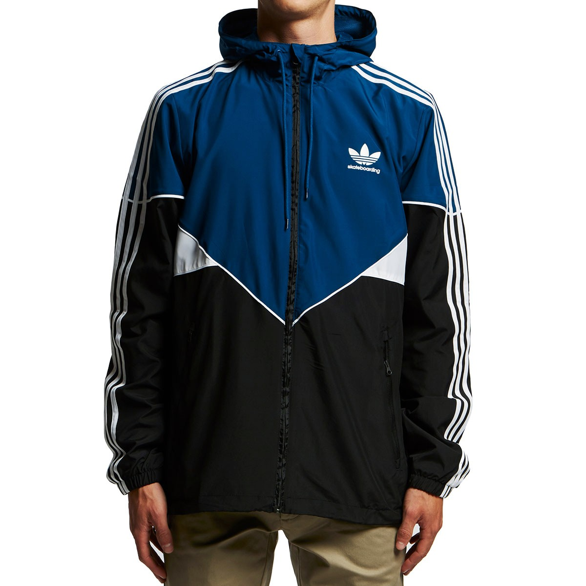 bc65eb3c4 Adidas Premiere Windbreaker Jacket - Black/Blue Night/White