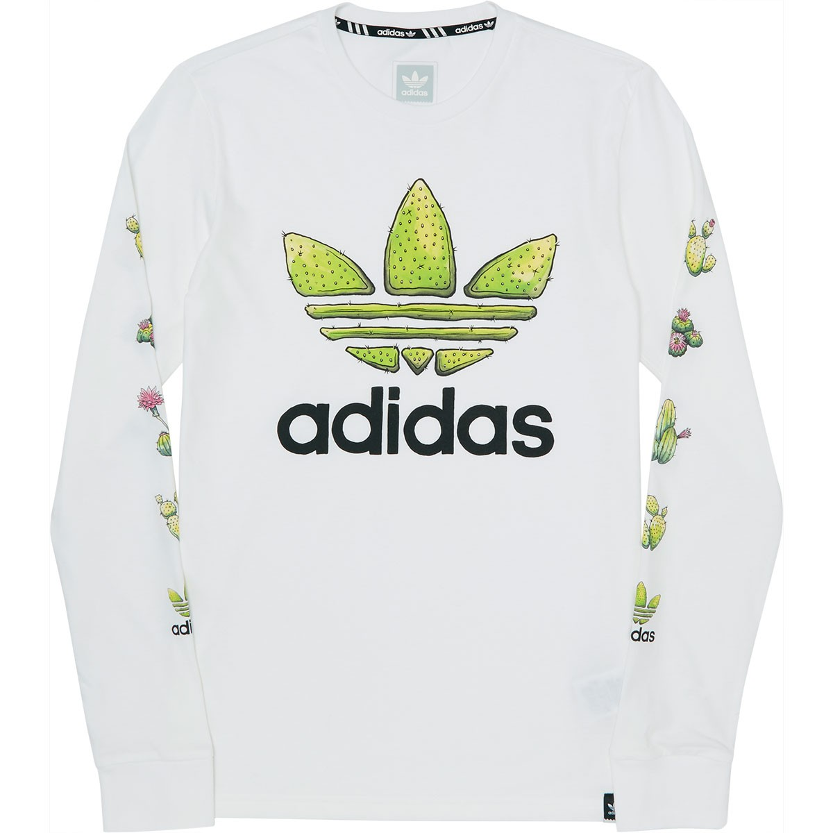 26a6faad0d63 Adidas Cactus Long Sleeve T-Shirt - White