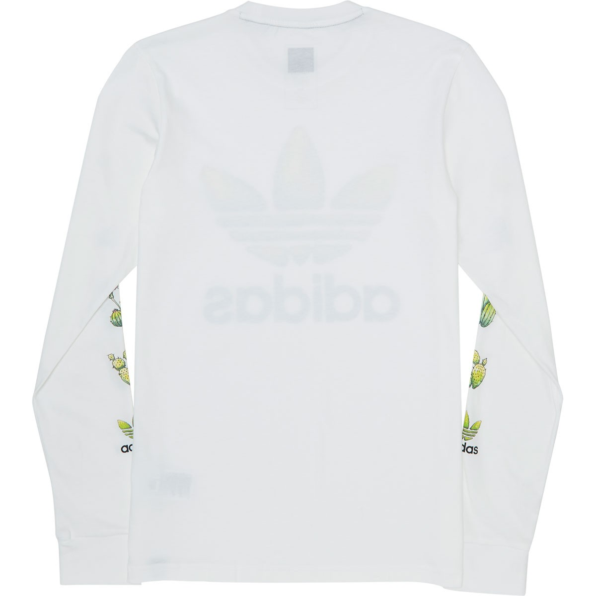 Adidas Cactus Long Sleeve T-Shirt - White