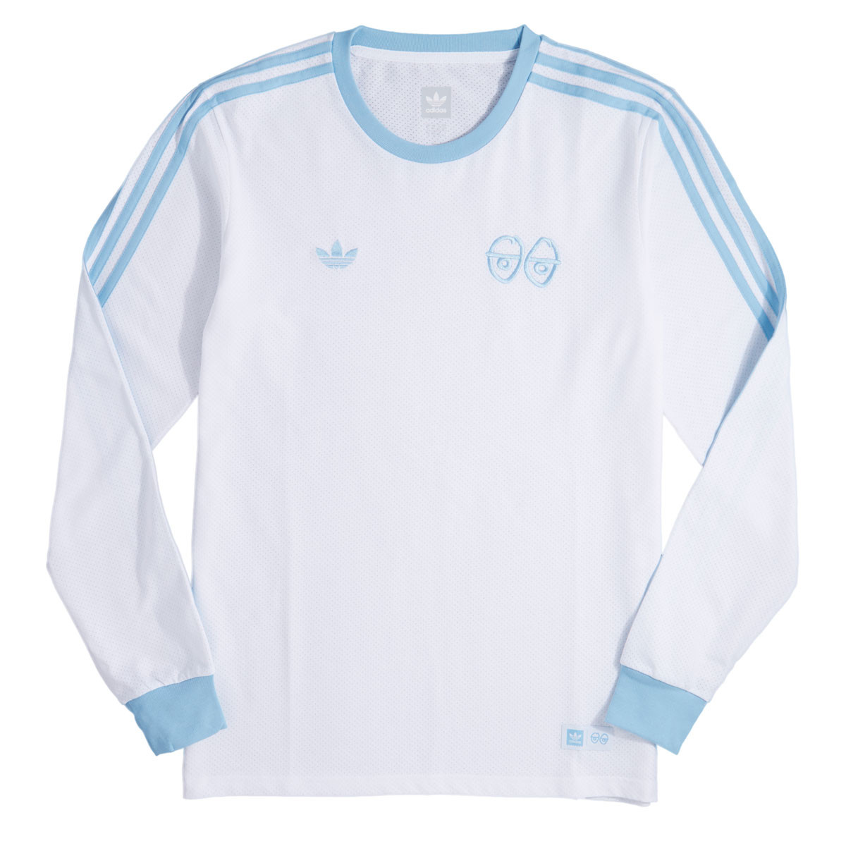 Adidas X Krooked T Shirt WhiteClear Blue