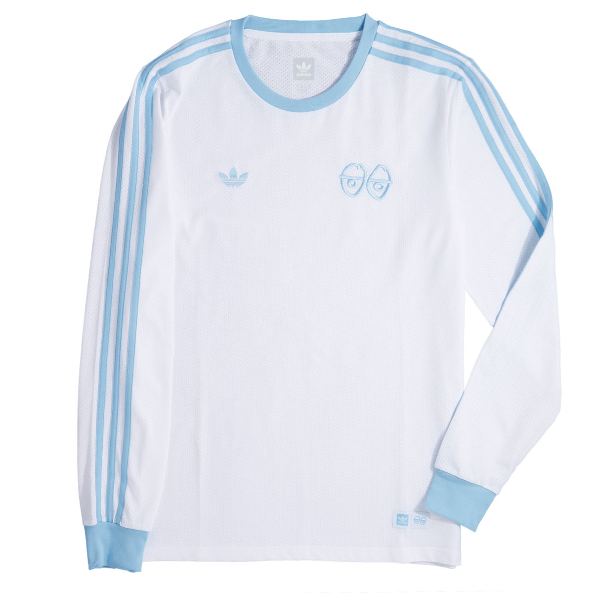 Adidas X Krooked T-Shirt - White/Clear Blue