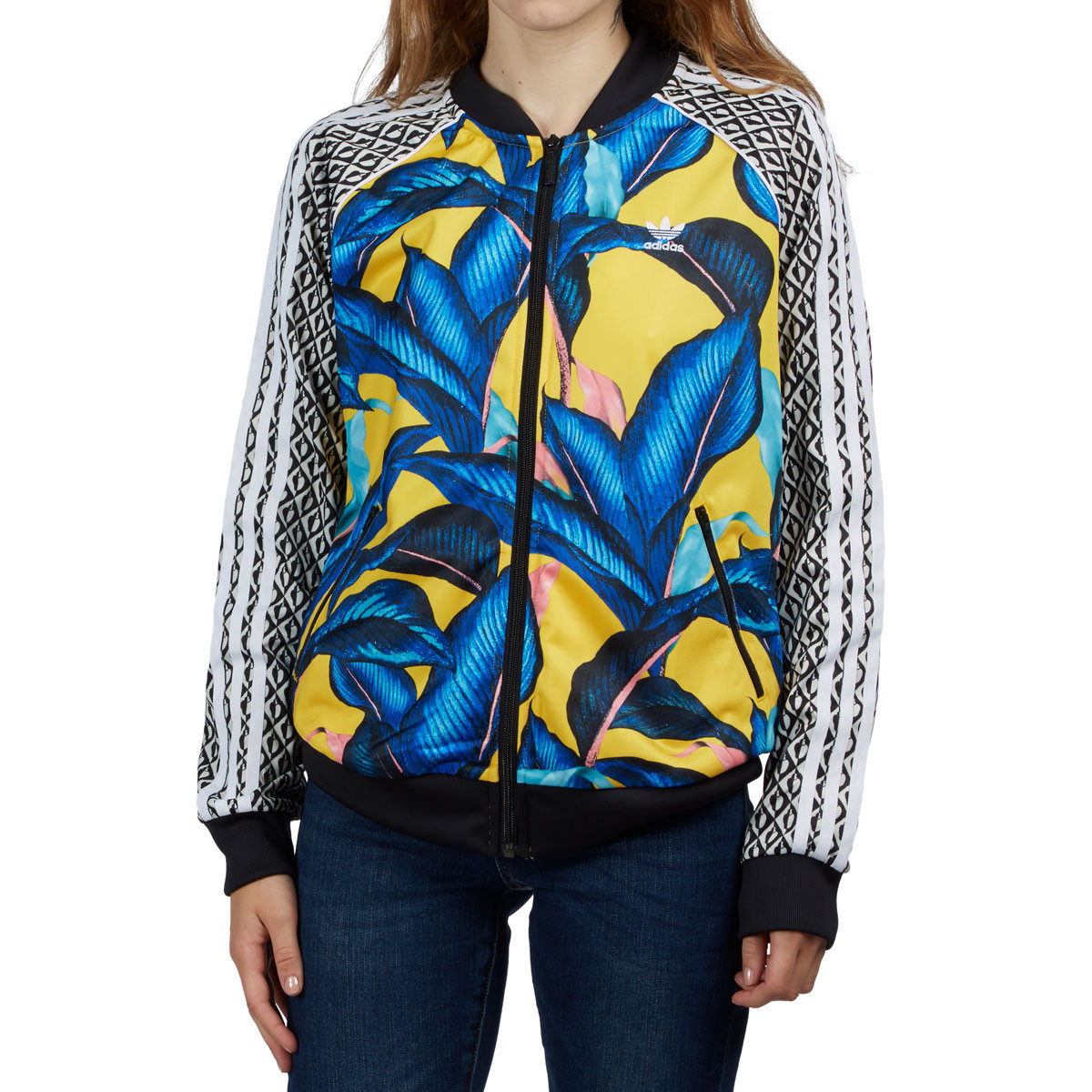 Adidas Sst Womens Track Jacket Multicolor Blue