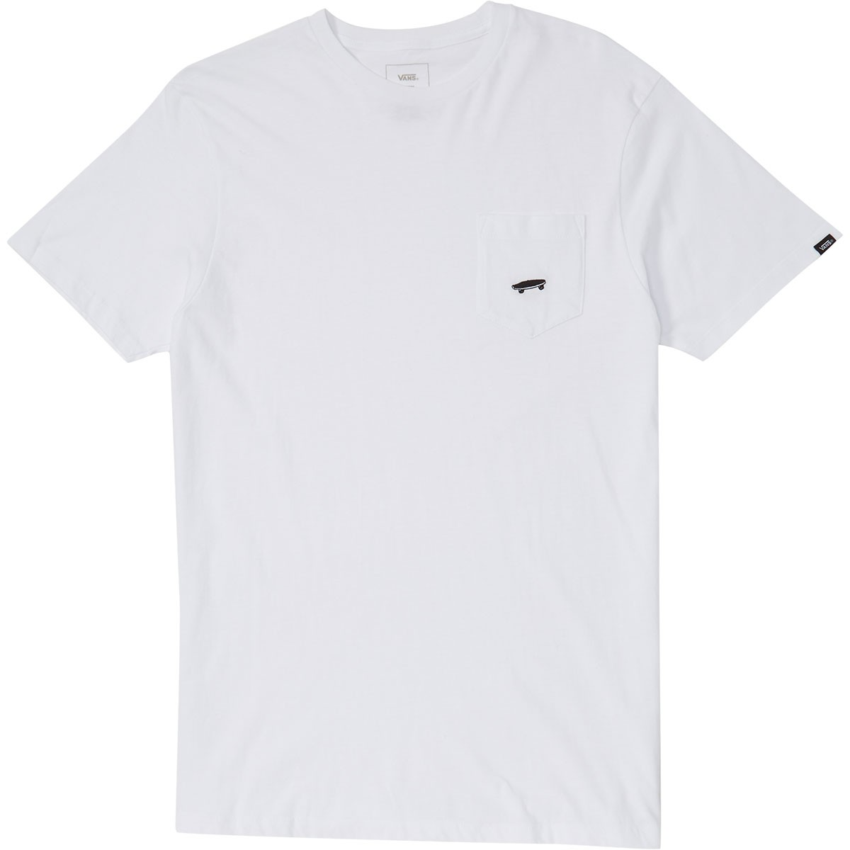 Vans everyday pocket tee ii t shirt white for How to whiten shirts