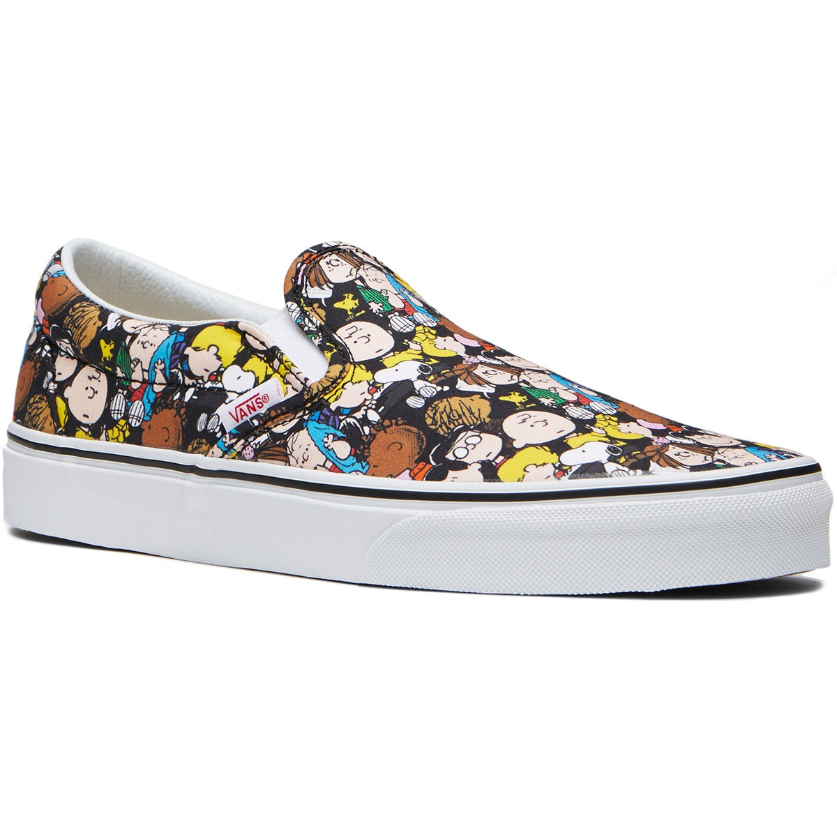 873c85697659 Vans X Peanuts Classic Slip On Shoes - The Gang Black - 8.0