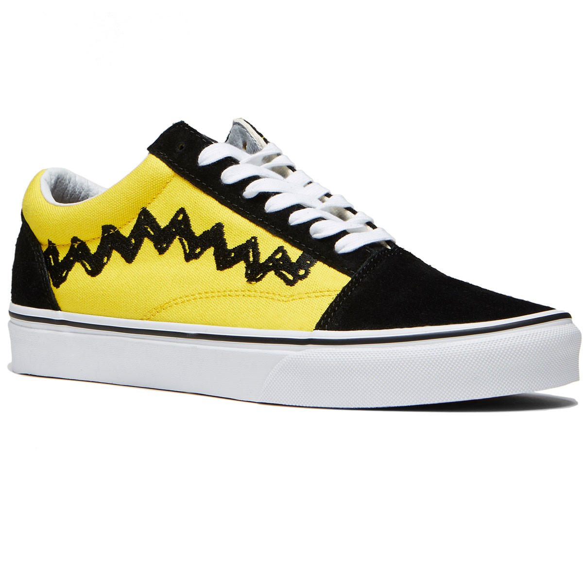 1e716522c8 Vans X Peanuts Old Skool Shoes - Charlie Brown Black - 8.0