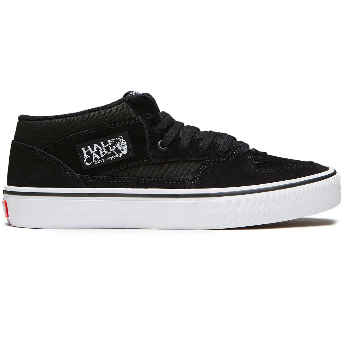 8f14fb42ceafc8 Vans Half Cab Pro Shoes - Black Black White - 8.0