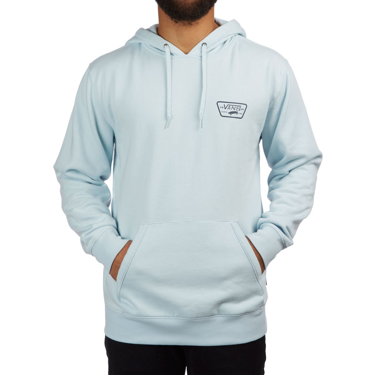 ddb13bad8a9 Vans Full Patched Hoodie - Baby Blue