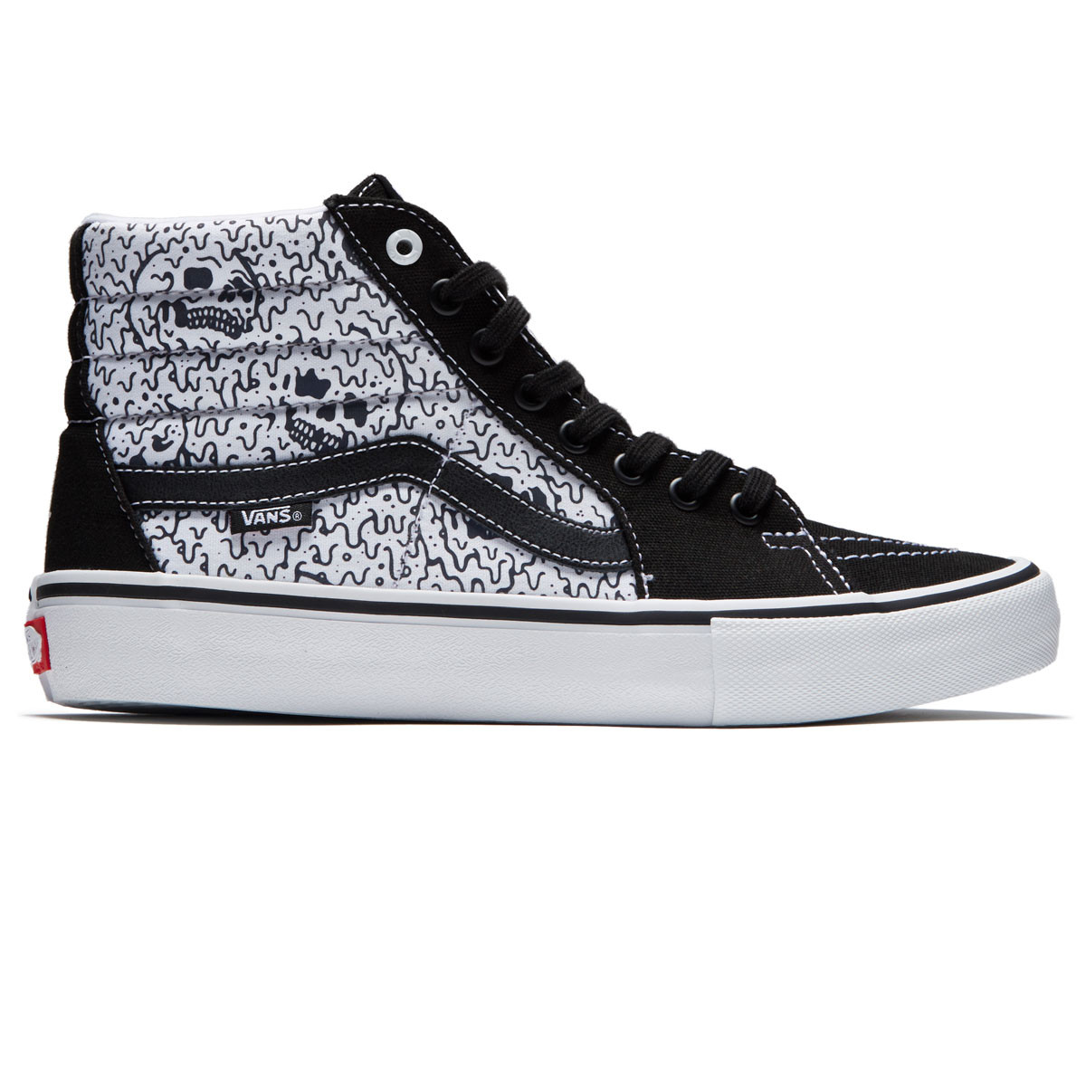 5db6526520 Vans X Sketchy Tank SK8-Hi Pro Shoes - Black White Reflective -