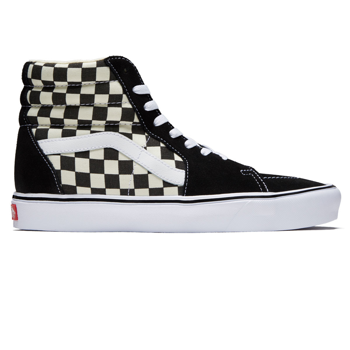 a26559c2718140 Vans Sk8-Hi Lite Shoes - Black White Checkerboard - 10.0