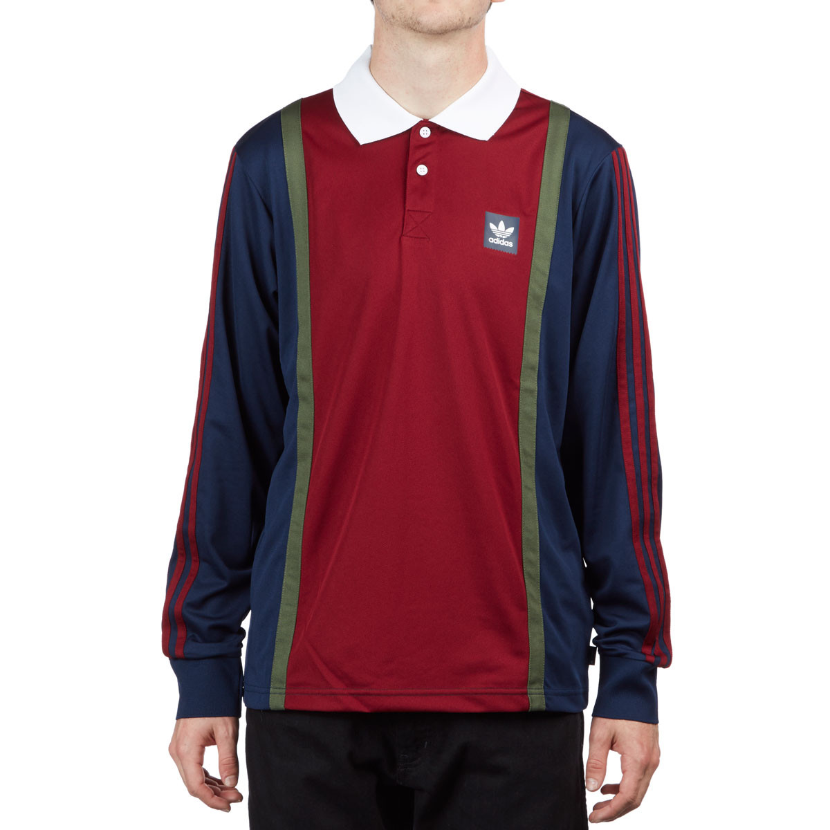 finest selection 5b66c 2ef24 Adidas Rugby Jersey - Collegiate Navy/Collegiate Burgundy/Base Green