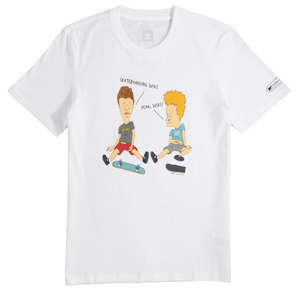 huge selection of d9d10 99127 Adidas x Beavis And Butthead T-Shirt - White/Multi