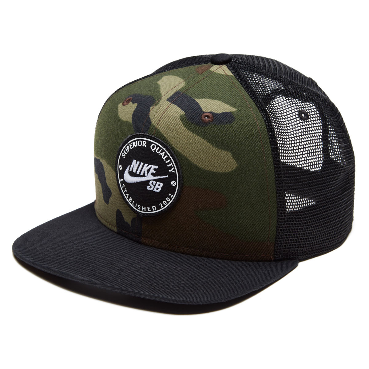 8b2e9db053 Nike SB Pro Patch Trucker Hat - Medium Olive/Black/Black/Black