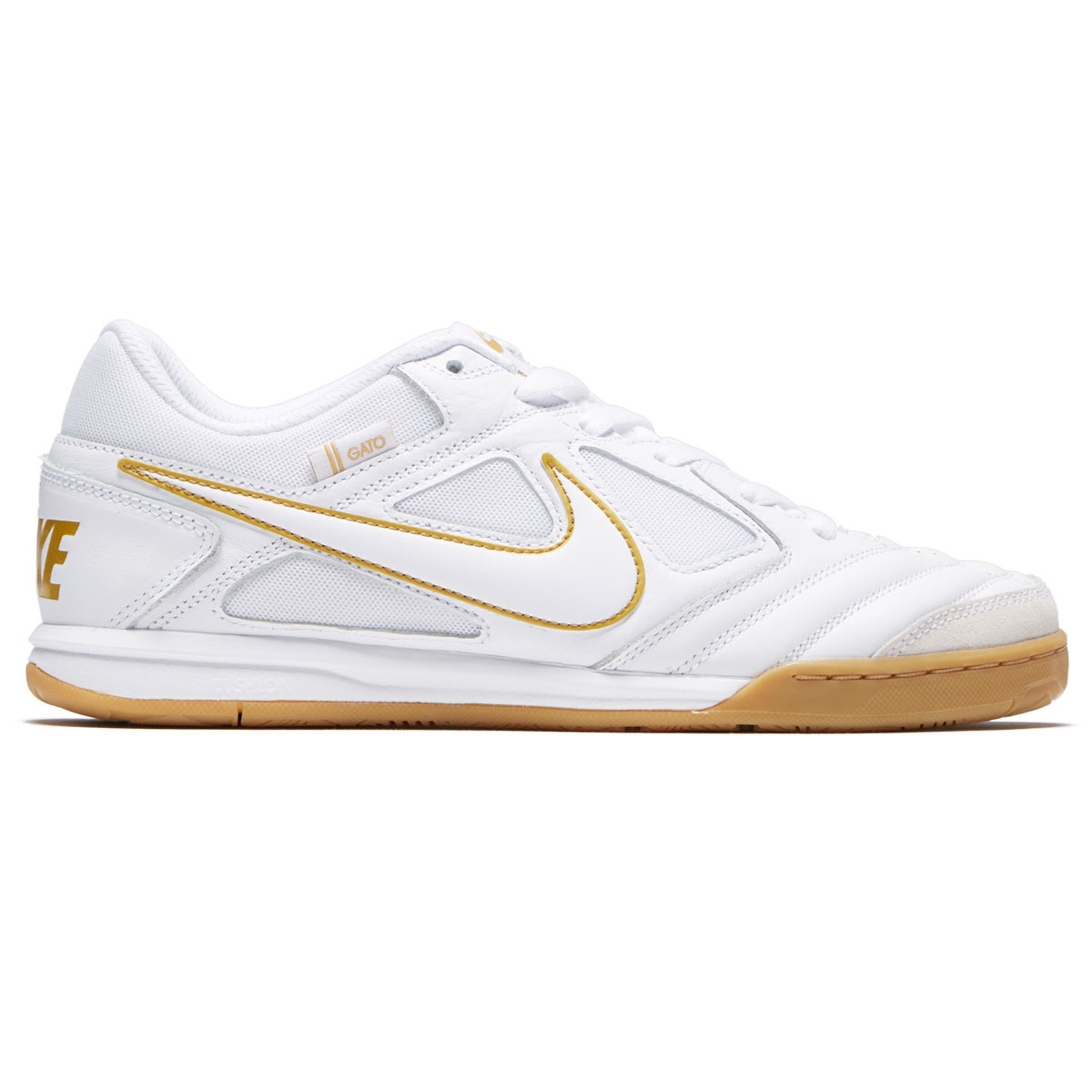 brand new 57741 d9e80 Nike SB Gato Shoes - White White Metallic Gold - 10.0