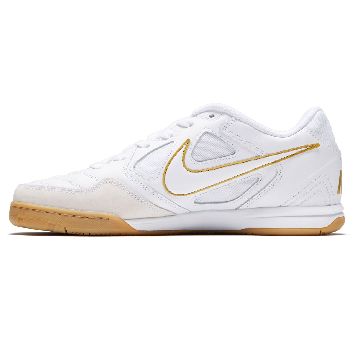 387fd0c5b7 Nike SB Gato Shoes - White White Metallic Gold - 10.0