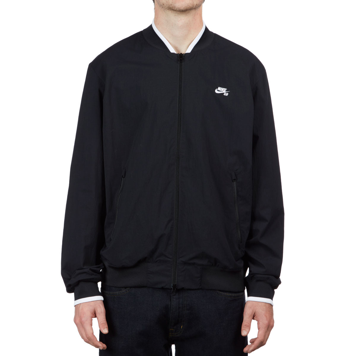 3753f288f82 Nike SB Icon Bomber Jacket - Black/Black/White