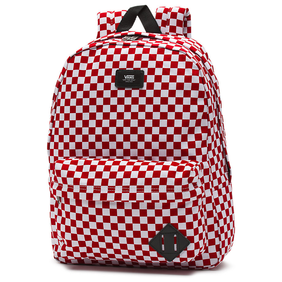 Vans Old Skool II Backpack - Red White Checkerboard