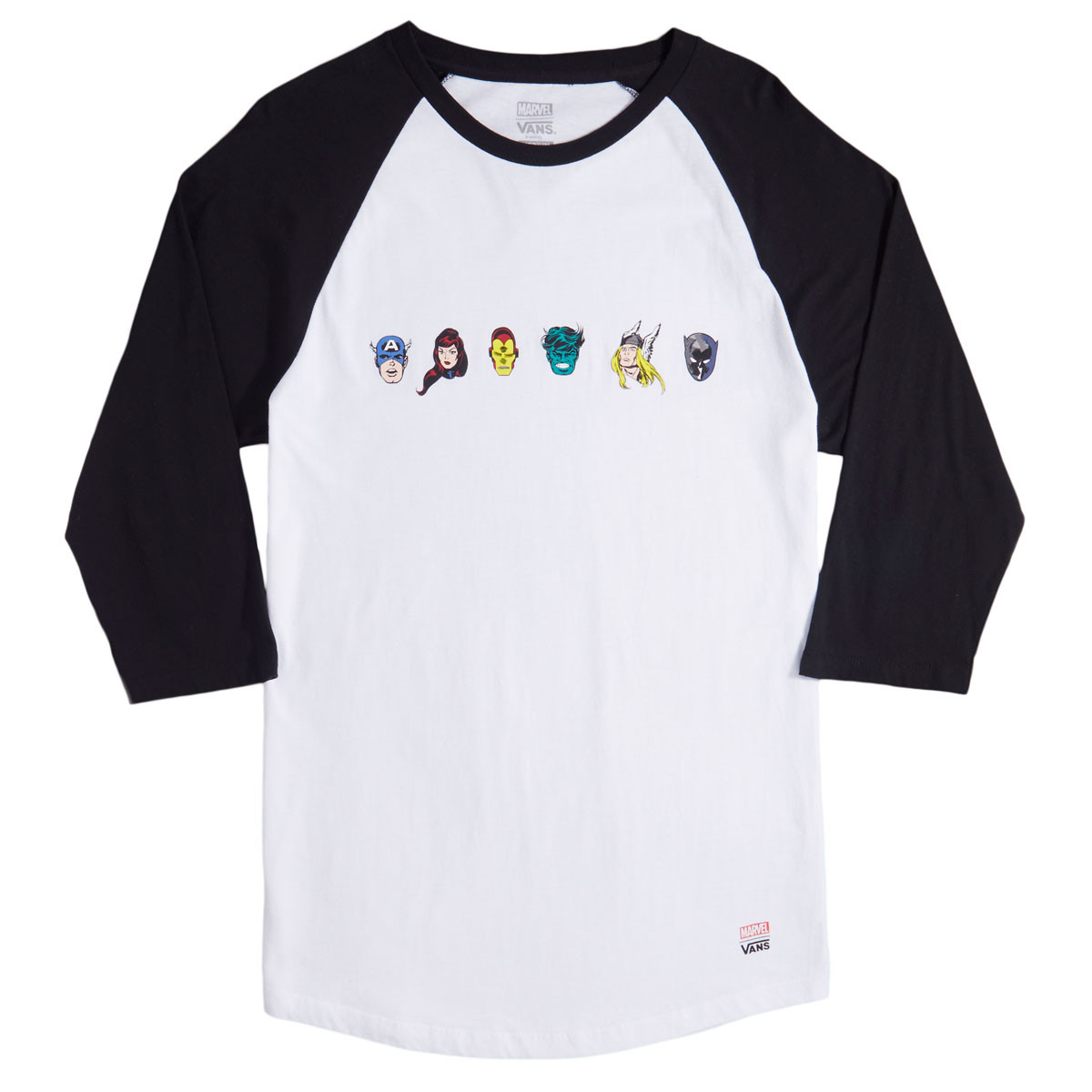 513bf774a2 Vans x Marvel Raglan T-Shirt - White Black