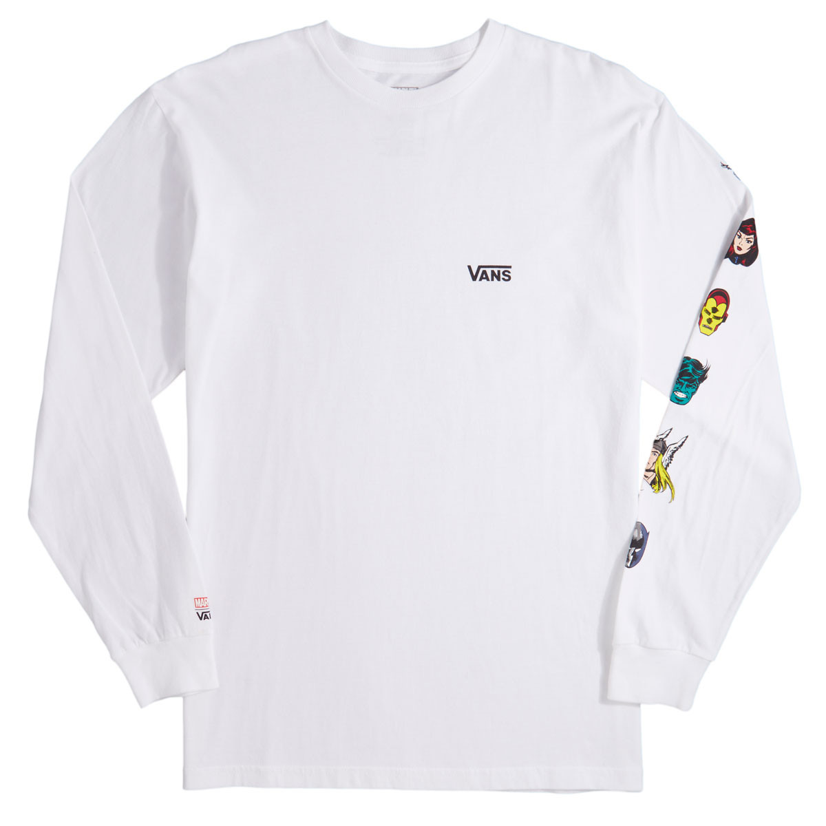 Vans x Marvel Characters Long Sleeve T-Shirt - White