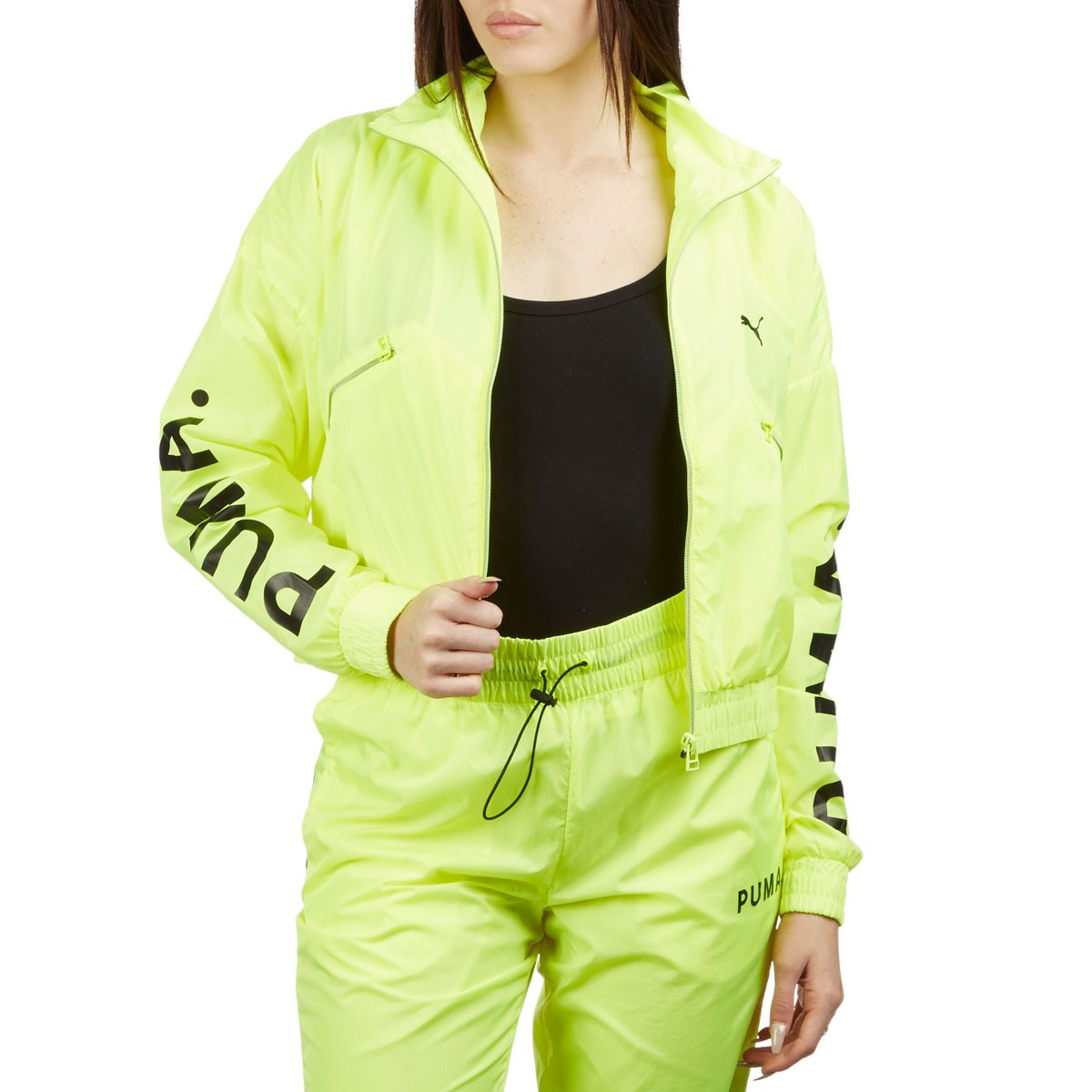5a57b106 Puma Womens Chase Woven Jacket - Yellow Alert