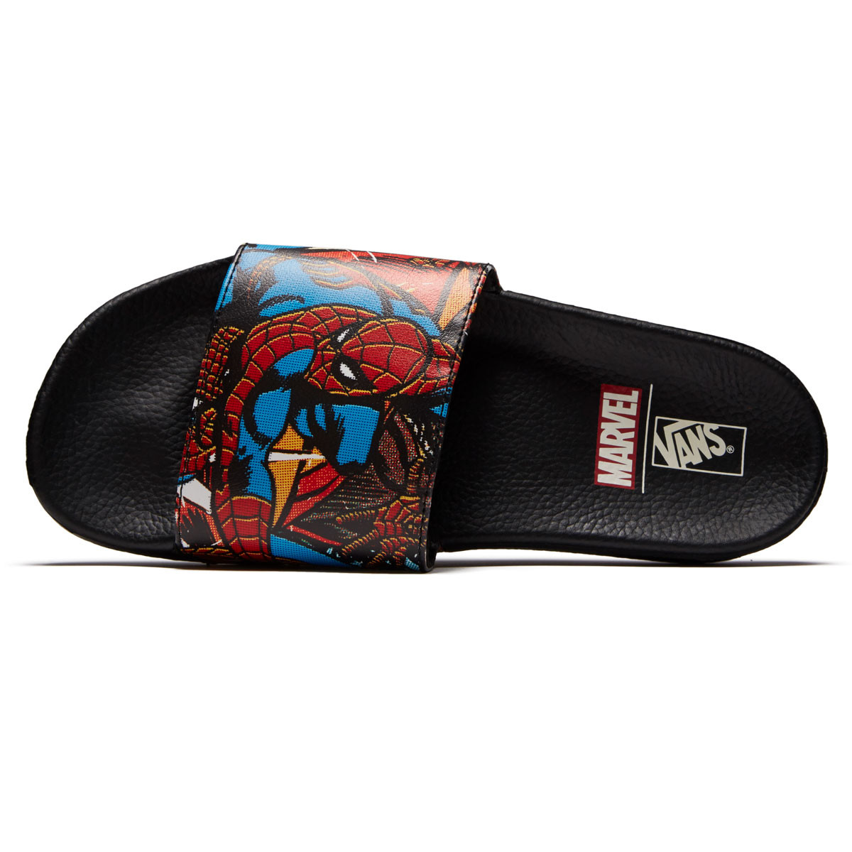 dbe0b6b768 Vans X Marvel Slide On Shoes - Spiderman Black - 10.0