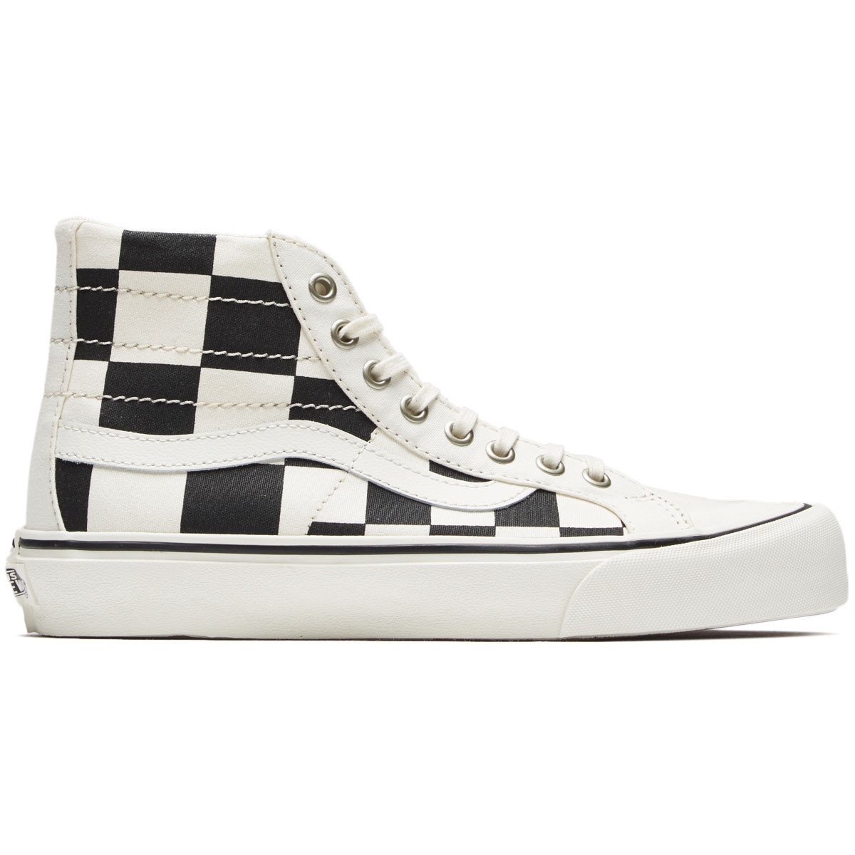 e160e41b7c Vans Womens Sk8-Hi 138 Decon SF Shoes - Black White - 4.0