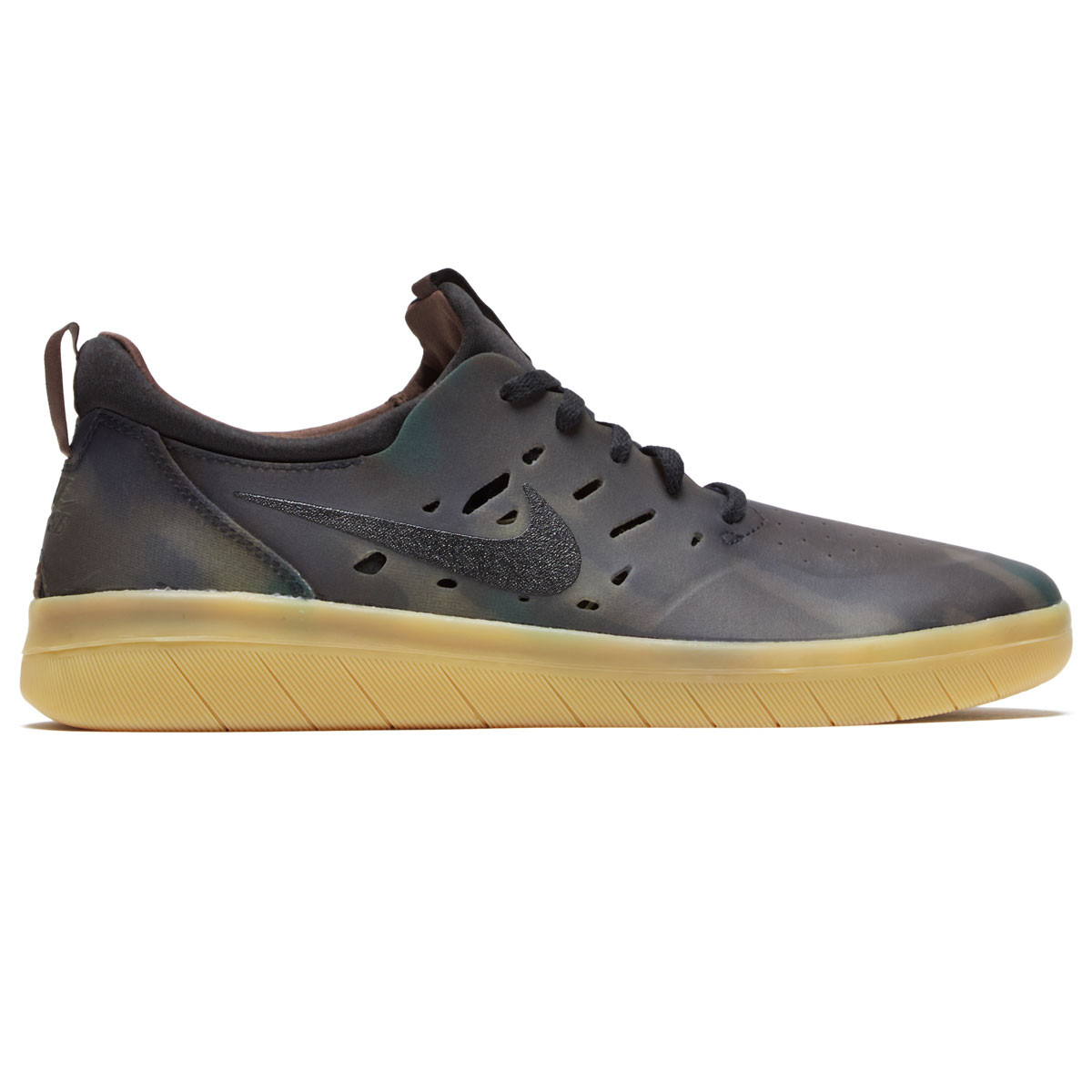 cheap for discount 1dd69 542b4 Nike SB Nyjah Free Premium Shoes - Multi Color Black Gum Light Brown
