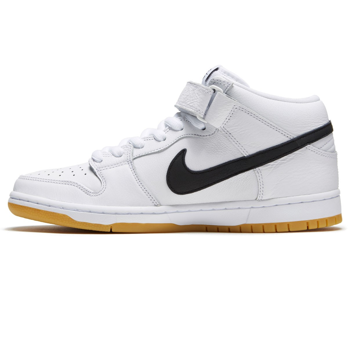 4079d747d90f Nike SB Dunk Mid Pro Shoes - White/Black/White/Gum Light Brown
