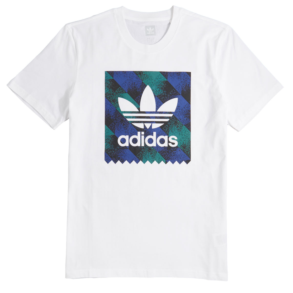594aa08d6 Adidas Towning BB T-Shirt - White/Black/Action Blue/Action Green