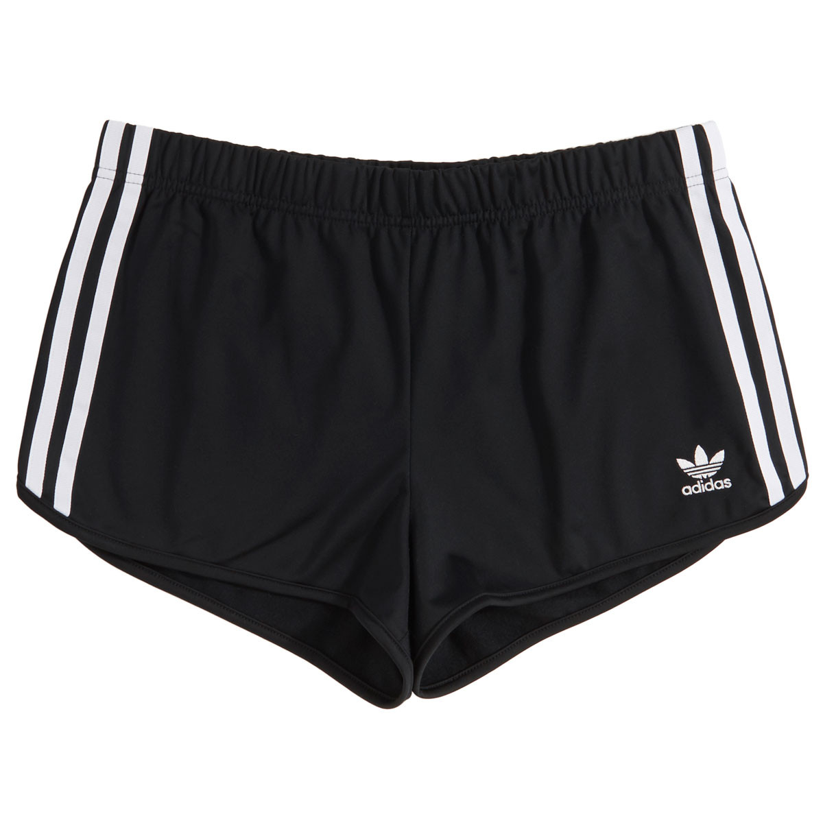 Adidas Womens 3 Stripe Shorts Black