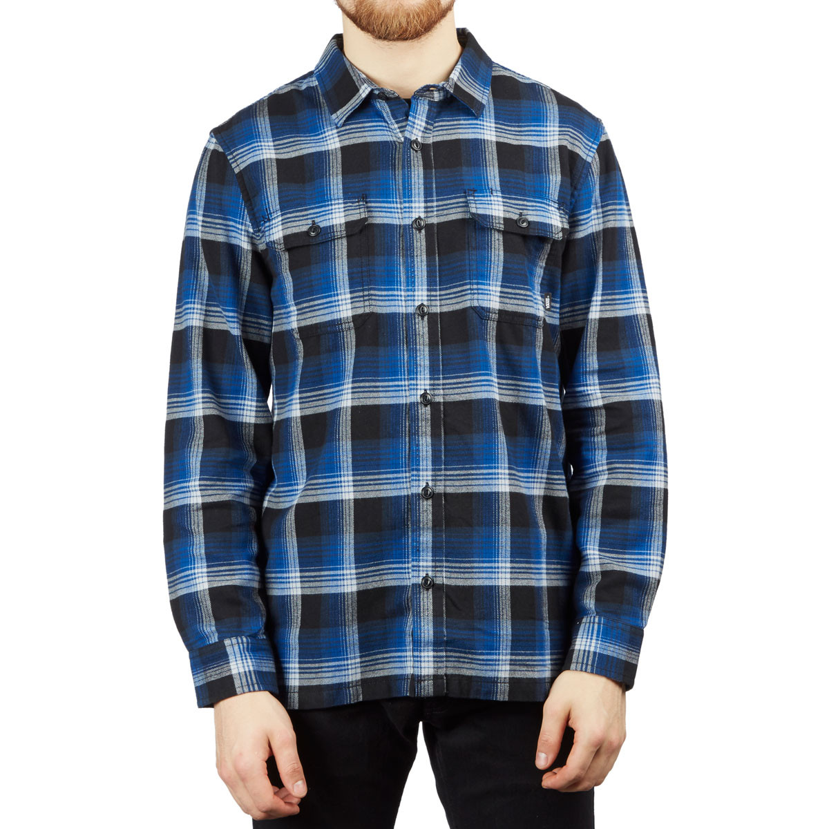 ebeabb8934 Vans x Anti-Hero Wired Flannel Shirt - True Blue/Black