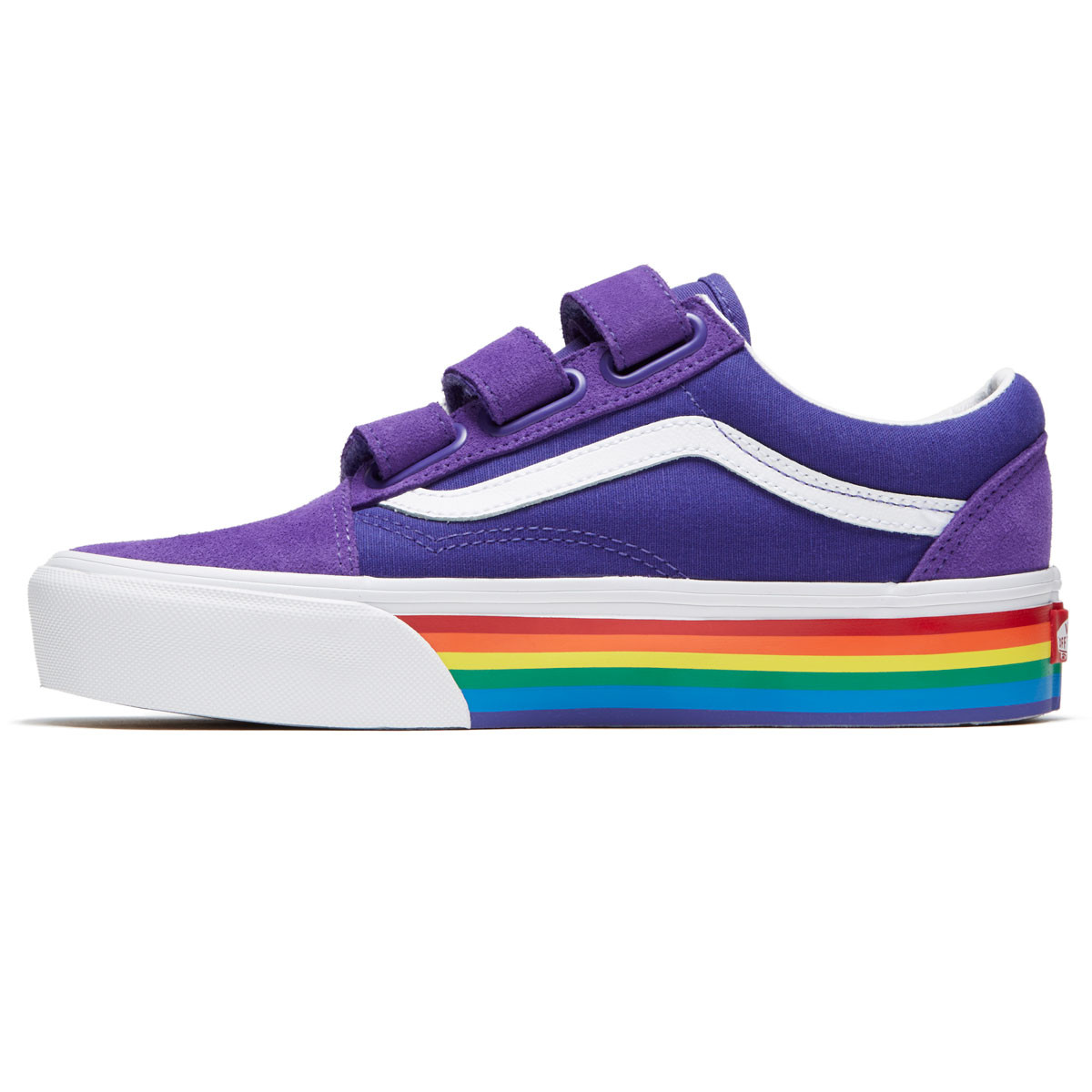 43152adbd51 Vans Unisex Old Skool V Platform Shoes - Rainbow Liberty True White - 4.5