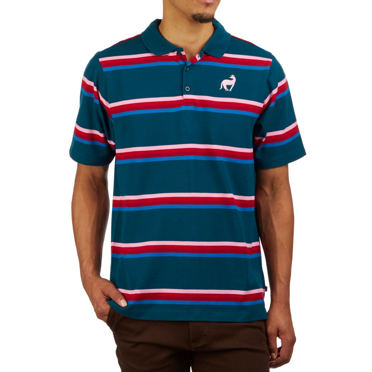 molécula usted está evidencia  Nike SB x Parra Polo Shirt - Midnight Turquoise/Military Blue/Pink Rise