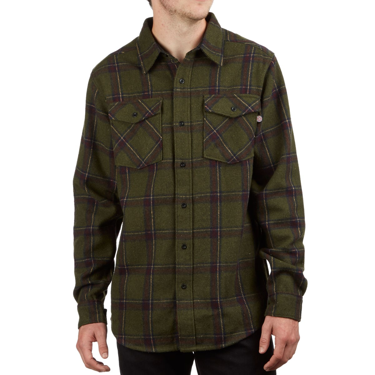 "VOLCOM CHAINSAW HOODED FLANNEL SHIRT/"" Military /"" SIZE MEDIUM"